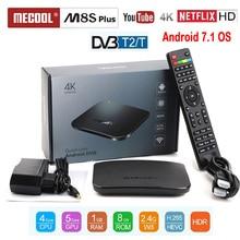 MECOOL TV BOX SUPPORT DVB T2 DVB T Android TV Box Amlogic S905D Quad Core 1GB 8GB 1080p HDR10 4K Youtube Netflix M8S PLUS DVB