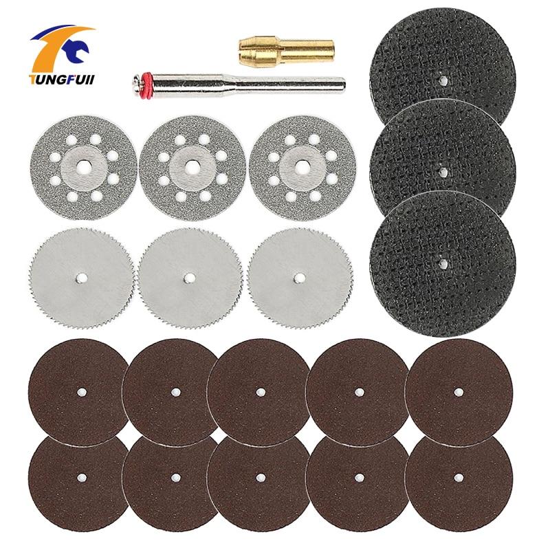 Tungfull Rotary Tool Accessories Woodworking Dremel Accessories 21PC Mini Drill Bit Set With 3.2mm Mandrel