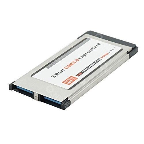 34mm Express Card para 2 Portas USB 3.0 Adaptador Express Card para Notebook Laptop PC