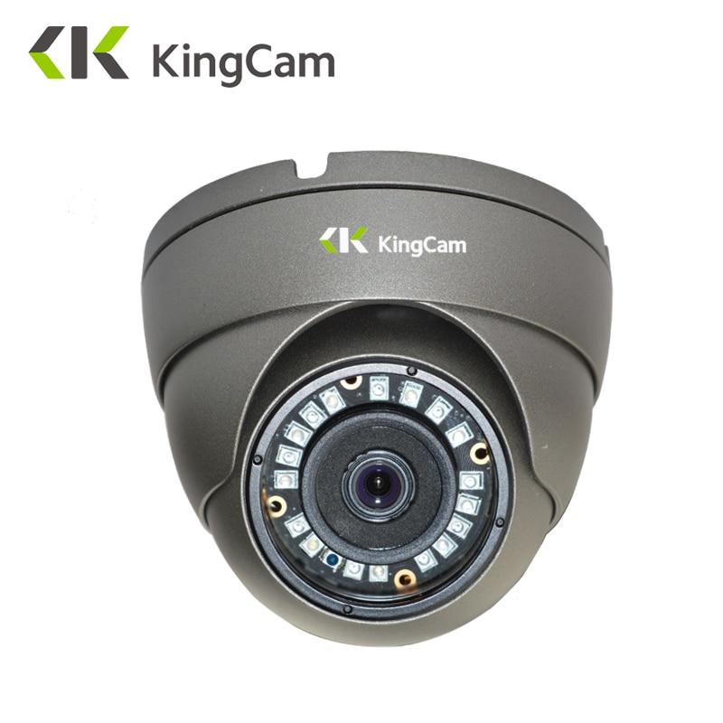 KingCam Metal Anti-vandal Laser IR LED 48V POE IP Camera 1080P 720P Security indoor Outdoor Dome CCTV ONVIF Surveillance Cameras