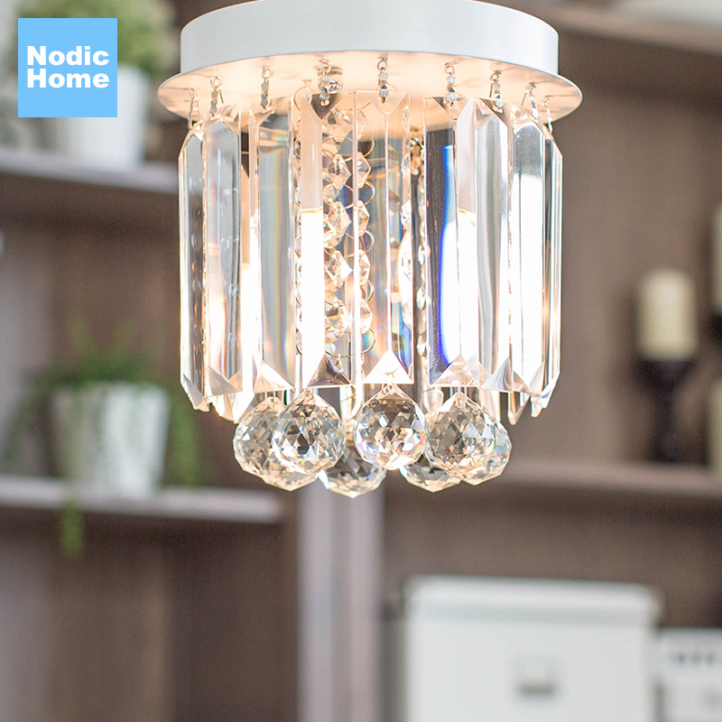 Modern Led Ceiling Lamp Crystal Living Room Foyer Light Home Lighting Lustre Fixtures Restaurant Luminarias Luxury Ceiling Light цена