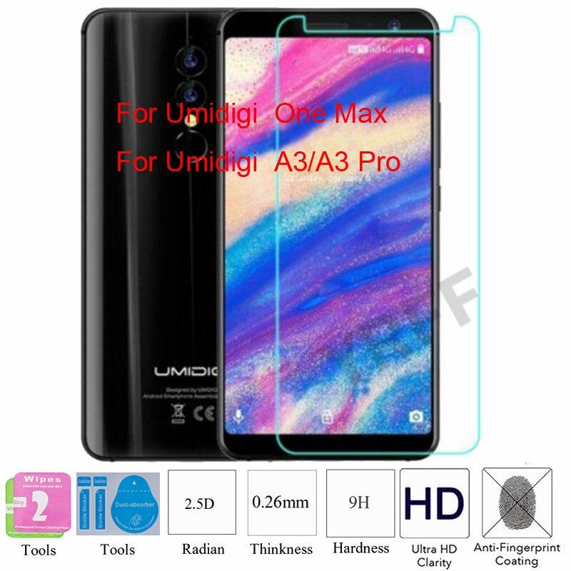 2PCS For UMIDIGI UMI A3 Pro Tempered Glass Screen Protector Protective Film For UMIDIGI One Max Free Tools
