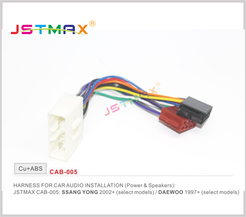 Buy Jstmax Iso Radio Plug For Ssang Yong 2005 Mitsubishi Outlander Wiring Daewoo1997 Stereo Harness Adapter Connector Adaptor Free Shipping Worldwide From