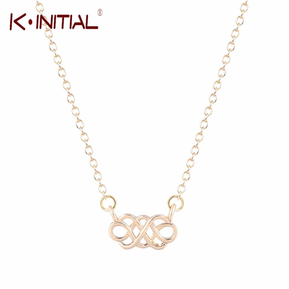 2ec3cb4ab43e Kinitial 1 unids oro plateado nudo chino tradicional Lucky COLLAR COLGANTE  Cruz collar joyería declaración bijoux
