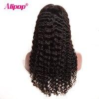180 Density Full Peruvian Deep Wave Wig Lace Front Human Hair Wigs ALIPOP Human Hair Wig