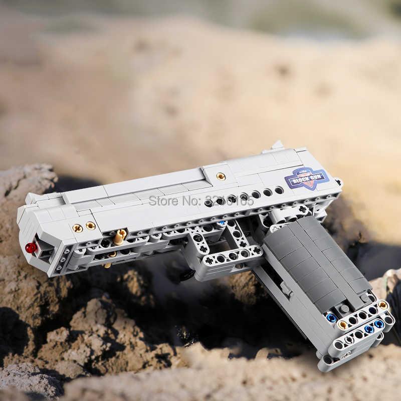 جديد 307 قطعة اللبنات الصحراء النسر بندقية نموذج رصاصة العسكرية سلسلة لعب متوافق العلامات التجارية الكبرى الطوب هدية للأطفال مراهقون
