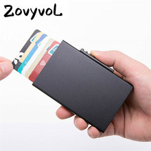 ZOVYVOL 2019 new Thin Card Case for Men and Women Business Holder Function Passport Cover RFID High Quality Slim Purse