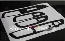 2013 Kia Sorento guarnição da porta de fibra de carbono etiqueta/quatro cobertura do painel de controle interno/especial modificado/personalizado
