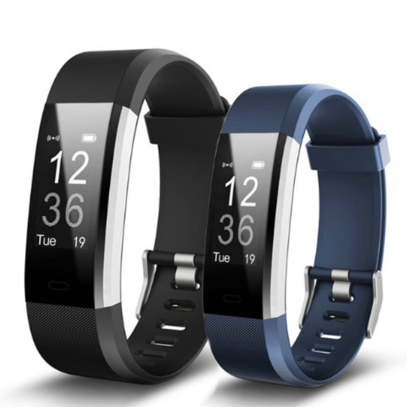 Id115 Fitness  Tracker Smartwatch Bracelet Step Counter Activity Monitor Band  Vibration  Wristband for Iphone Android phone