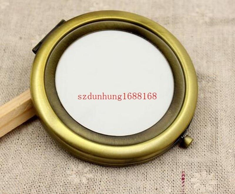 Schminkspiegel Haut Pflege Werkzeuge Tragbare Hand Tasche Herz-förmigen Doppel Gefaltet-seite Spiegel Für Frau Machen Up