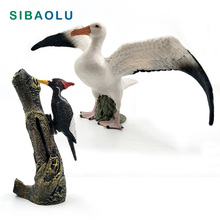 Artificial Simulation Seagull bird Woodpecker Animal model figurine home decor miniature fairy garden decoration accessories toy new zealand national bird artificial animal model about kiwi bird toy fur