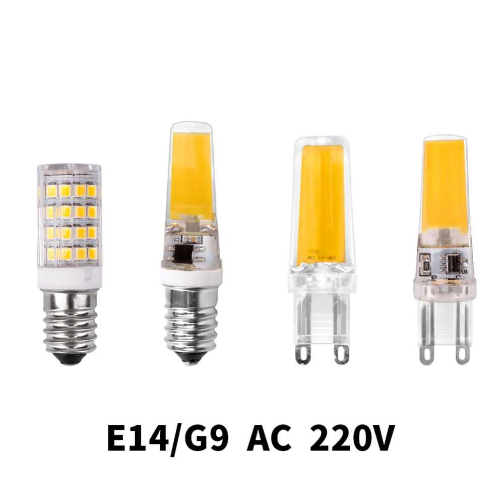 G4 G9 E14 Led Lamp Bulb Dimming Lighting AC DC 12V 220V 3W 6W 9W COB SMD Replace Halogen Lights Spotlight Bombillas Chandelier
