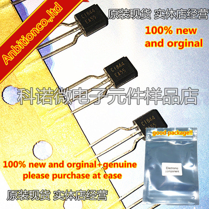 10pcs 100% New And Orginal 2SC1844 C1844 TO-92 NPN SILICON TRANSISTOR In Stock