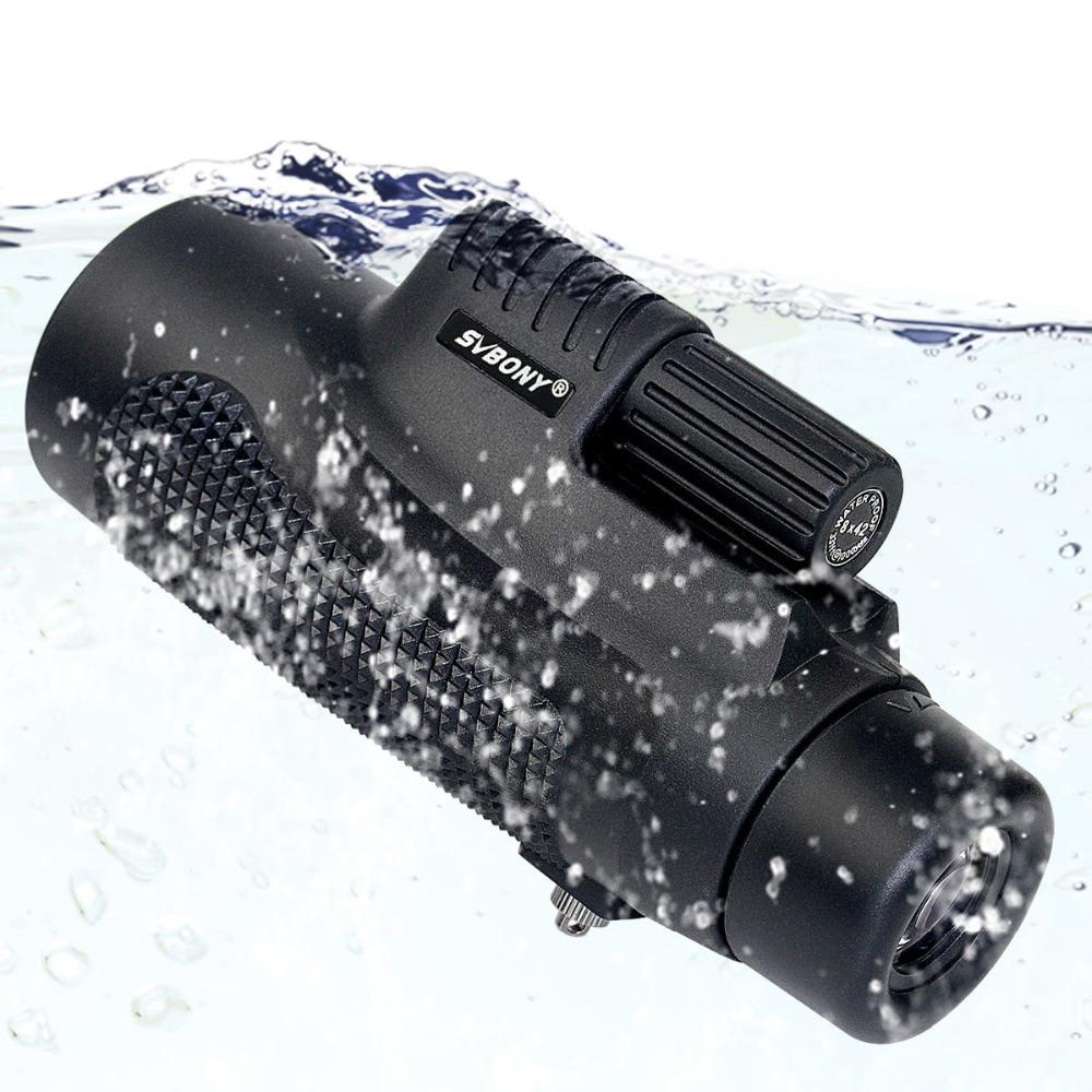 SVBONY Monocular Telescope 8x42 Waterproof Fogproof Camping Hand Focus Travel Monocular for Hiking Birdwatching F9116AB  6x30mm compact porro prism fogproof monocular