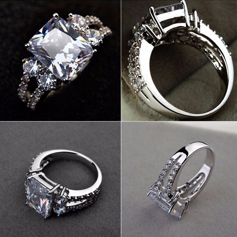 women silver rings with square crystals (2)