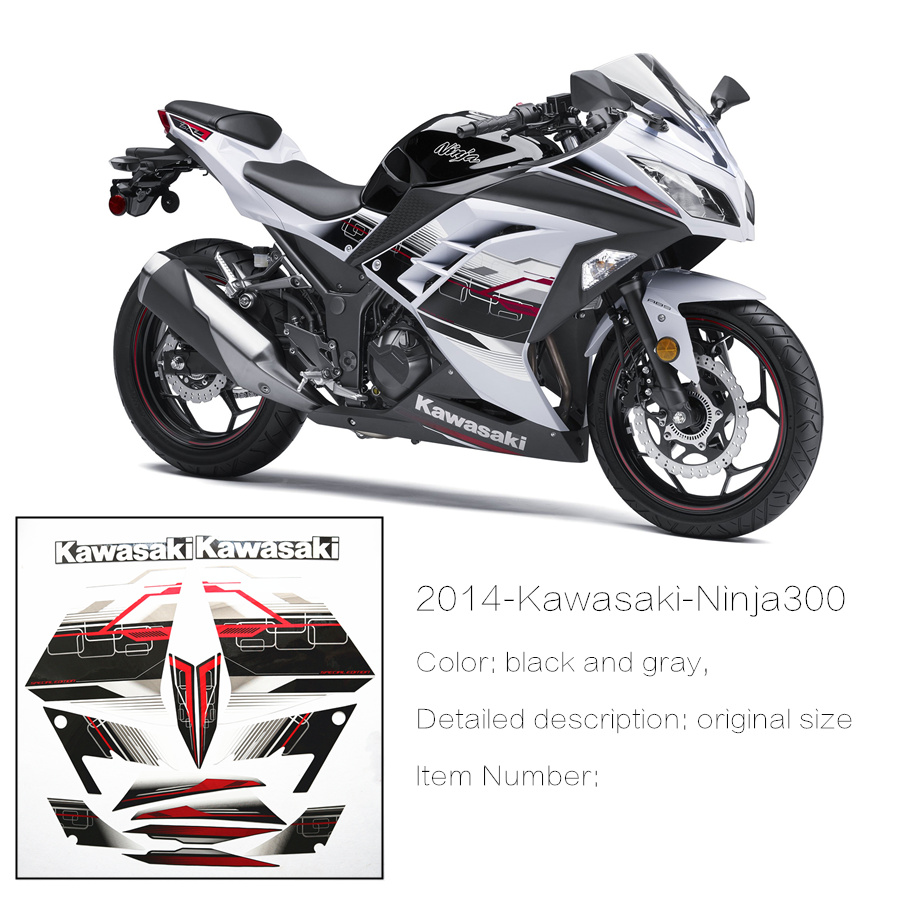 XKB3013-1 pair Motorcycle fairing accessories fairing stickers fit for Kawasaki Ninja 300 2013years dhl 1628pcs lepin 07055 genuine series batman movie arkham asylum building blocks bricks toys with 70912 gift