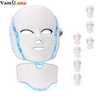 7 Màu Photon LED Facial Cổ Mask Cho Trẻ Hóa Da Chống Lão Hóa Làm Đẹp Liệu Pháp Ánh Sáng Sáng Để Sử Dụng Nhà vẻ đẹp C