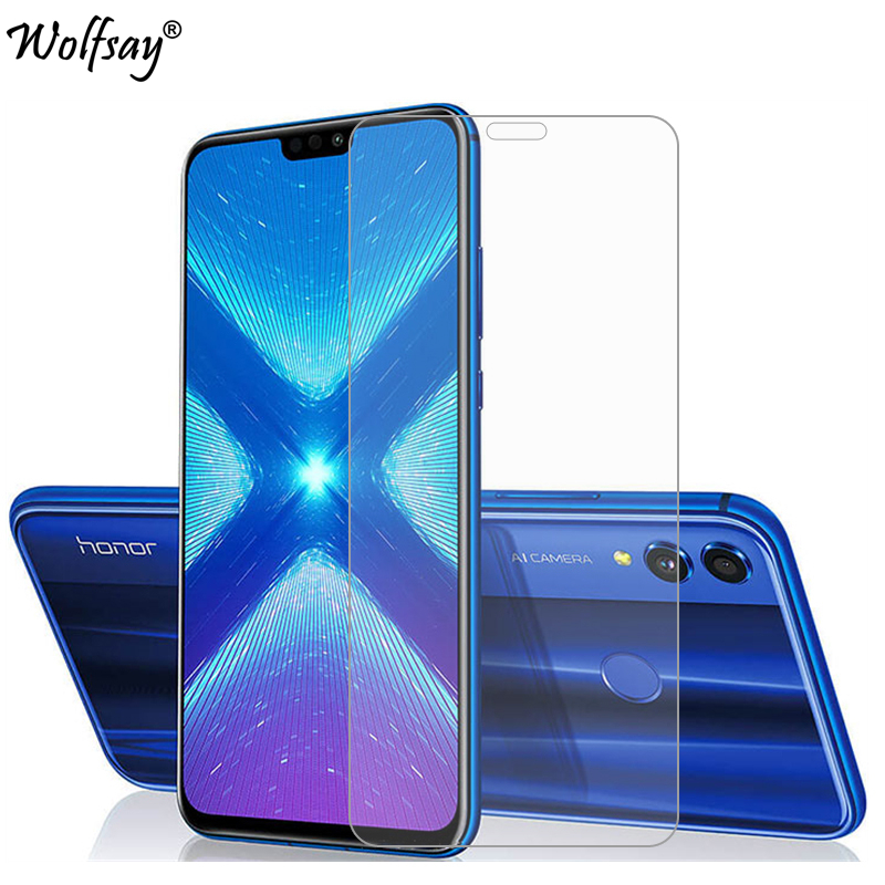 2PCS Glass Huawei Honor 8 Screen Protector Tempered Glass For Huawei Honor 8X Glass Honor 8 Honor 8X 8 X Protective Film Wolfsay(China)