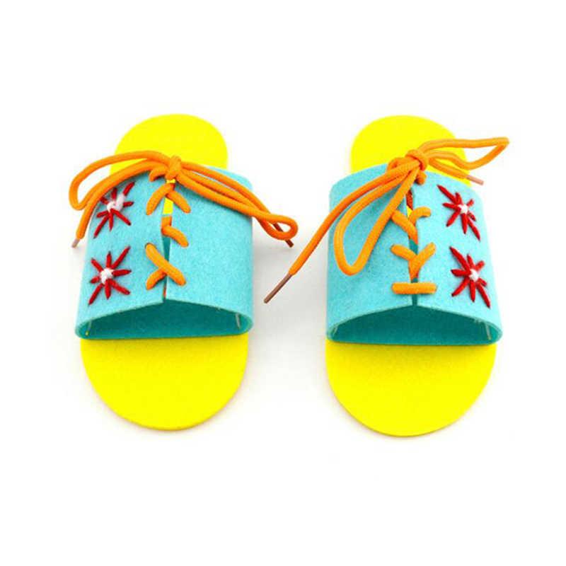 3D головоломка игрушки Монтессори игрушки шнуровка обувь Дети Ранние развивающие игрушки для малышей Дети обучения галстук игрушка со шнурками для детей