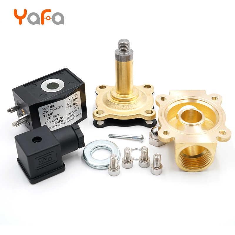 """Normaal Gesloten, Magneetventiel, Water Klep, IP65 Volledig Gesloten Coil G3/8 """"G1/2"""" G3/4 """"G1"""" G1-1/4 """"G1-1/2"""" G2 """"AC220V DC12V 24V"""