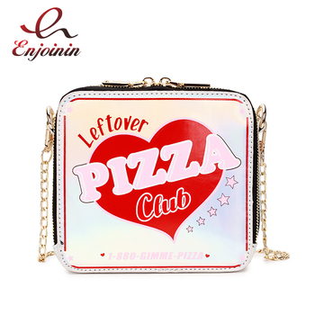 Fashion New Style Laser Letters Cute Ladies Flap Chain Purse Shoulder Bag Pu Leather Crossbody Messenger Bag Femal Pouch F8817