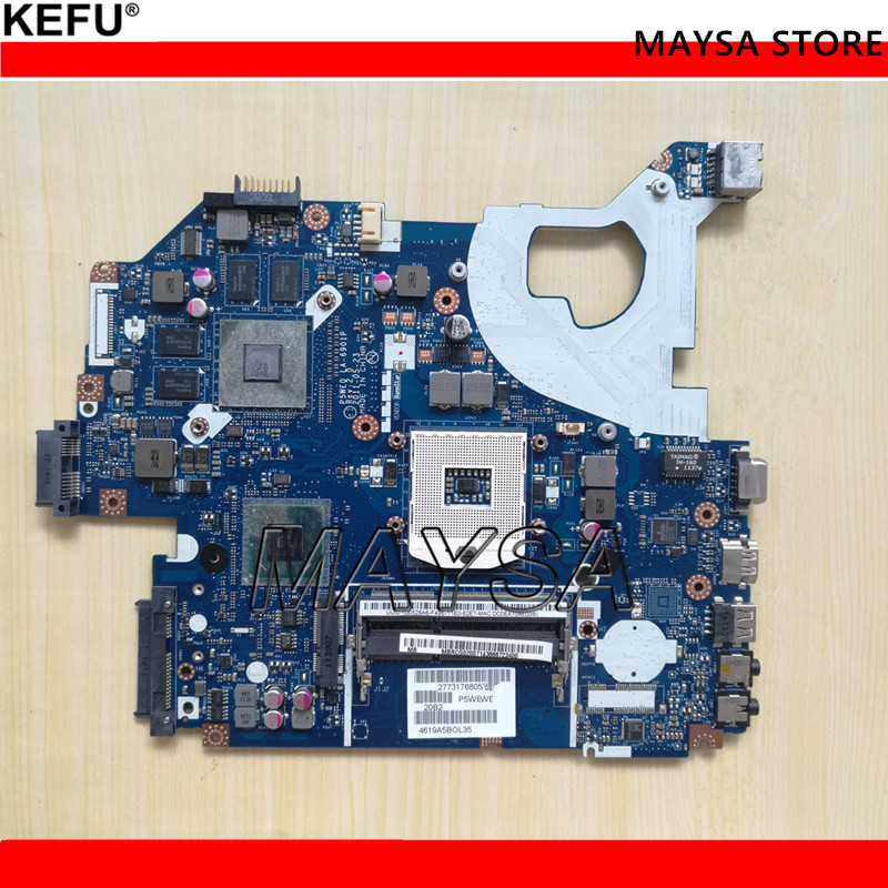 Laptop motherboard for ACER Aspire 5750G motherboard P5WE0 LA-6901P DDR3 with 8 Graphics Chip Fully tested image