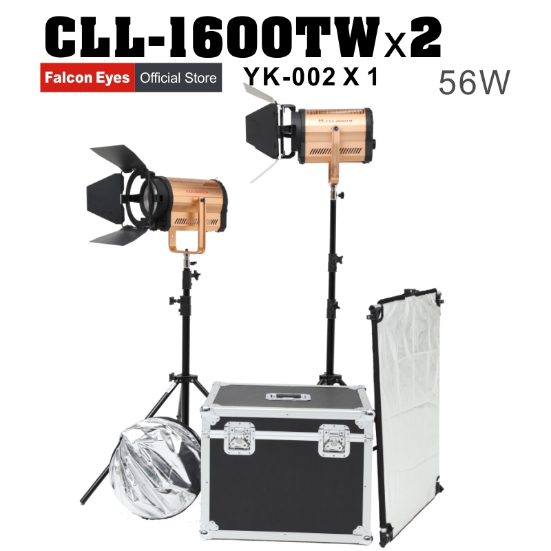 Falcon Eyes CLL-1600TW 2pcs/lot with box 160W WIFI photography lighting studio led light for film Advertisement shooting аксессуар falcon eyes dea bhc 160 180mm