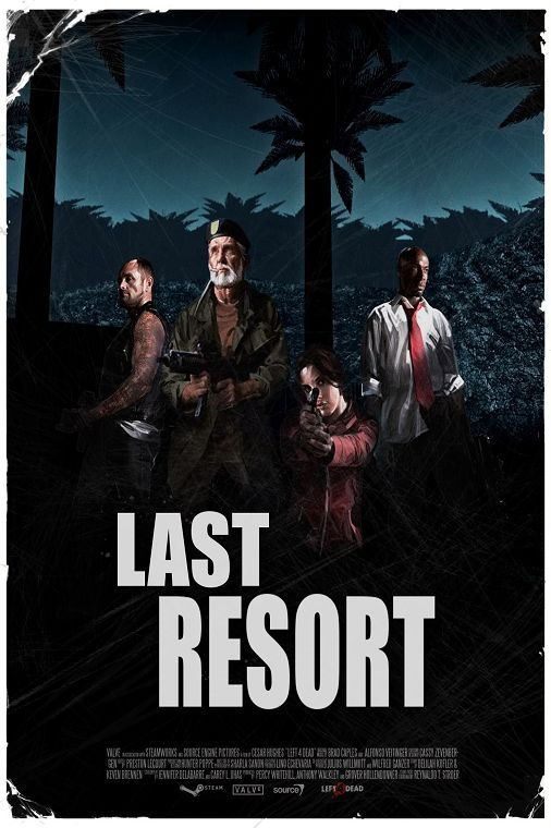 DIY frame Last Resort Left 4 Dead Game Wall Decor Posters Art Silk Fabric Poster