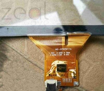 Pour HC-07GT911b 7 pouces écran tactile capacitif 6 broches pour voiture DVD Navigation 165mm * 100mm 164*99mm câble écran tactile