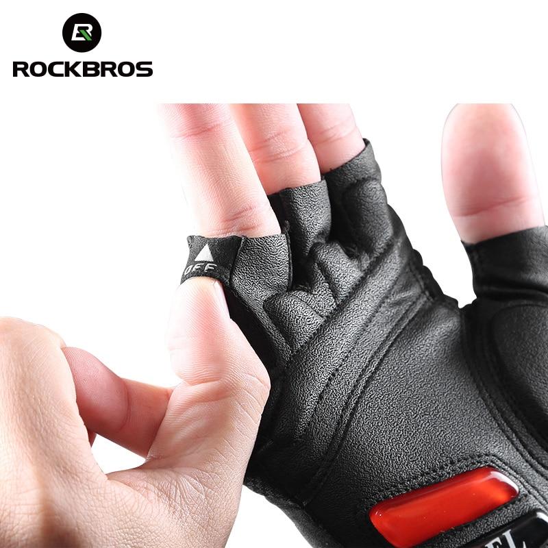 Cycling Gel Half Finger Short Gloves Shockproof Breathable MTB Bike Gloves