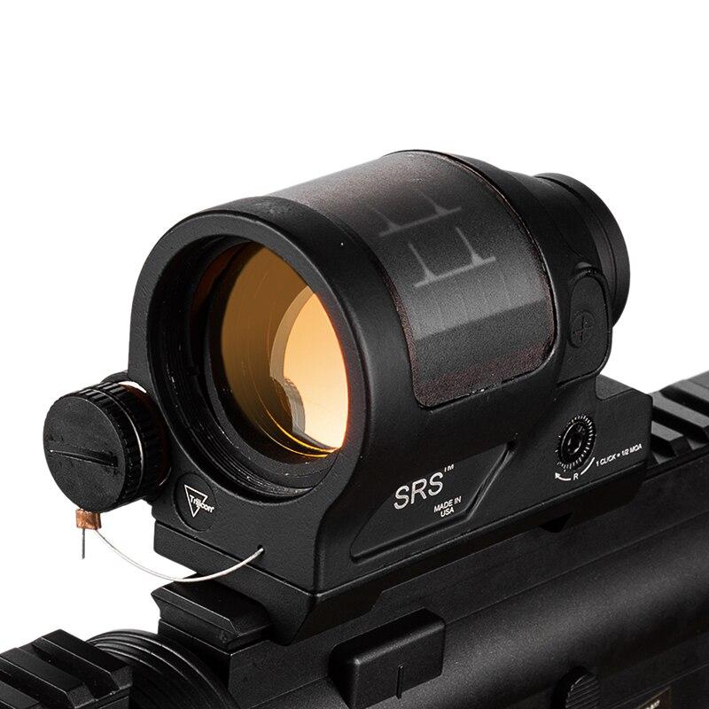 Srs Solaire Puissance Rouge Dot Sight Militaire Arme Vue Red Dot Étanche Reflex Sight Chasse Scopes Pour Airsoft Fusil Caza