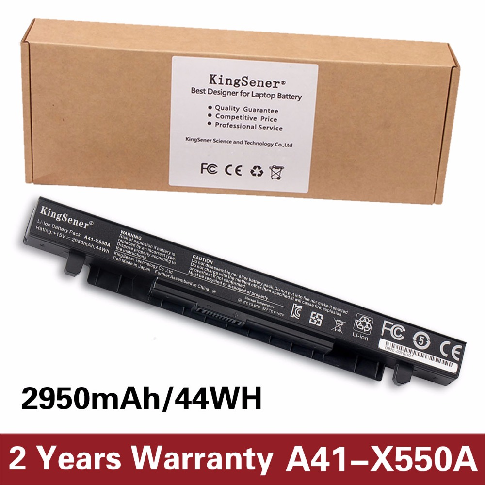 KingSener New Laptop battery For ASUS A450 A550 F450 F552 K450 K550 P450 P550 R409 R510 R510C X450 X550 A41-X550 A41-X550A