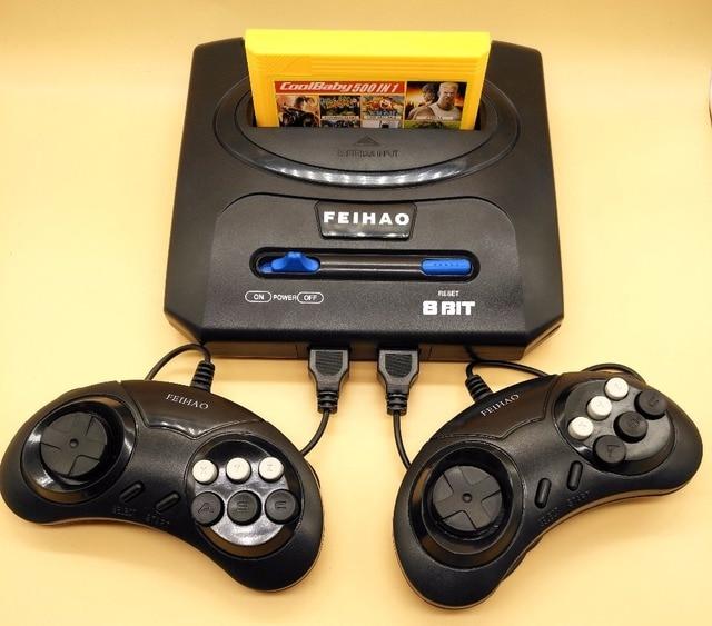 Rétro TV Vidéo Jeu Console Pour Nes 8 bits Jeux Pour Nes jeux avec Deux Gamepads et 500 en 1 Cartouche Tous Les Jeux Différents
