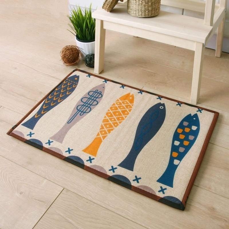 Bathroom Creative Slip Mat Fish Printing Rug