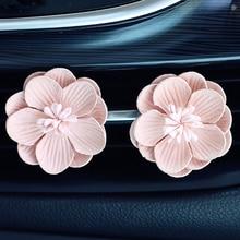 2pcs/set Car Perfume Clip Flower Decor Air Freshener Automobile Air Conditioner