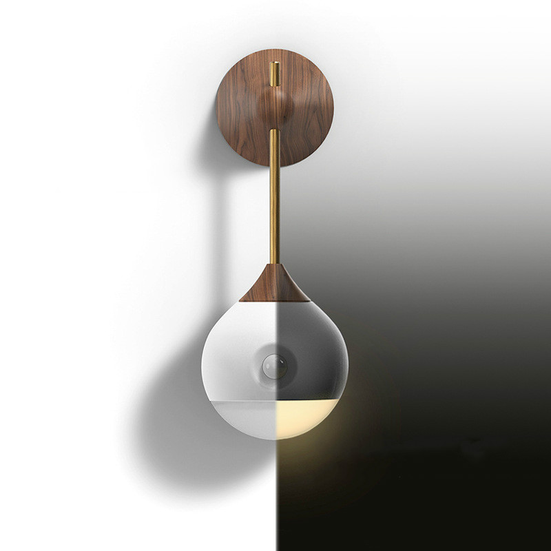 Intelligent Human Body Induction Night Light 3 Mode LED Wall Lamp USB Charging Bed Headlights Home Emergency Lighting