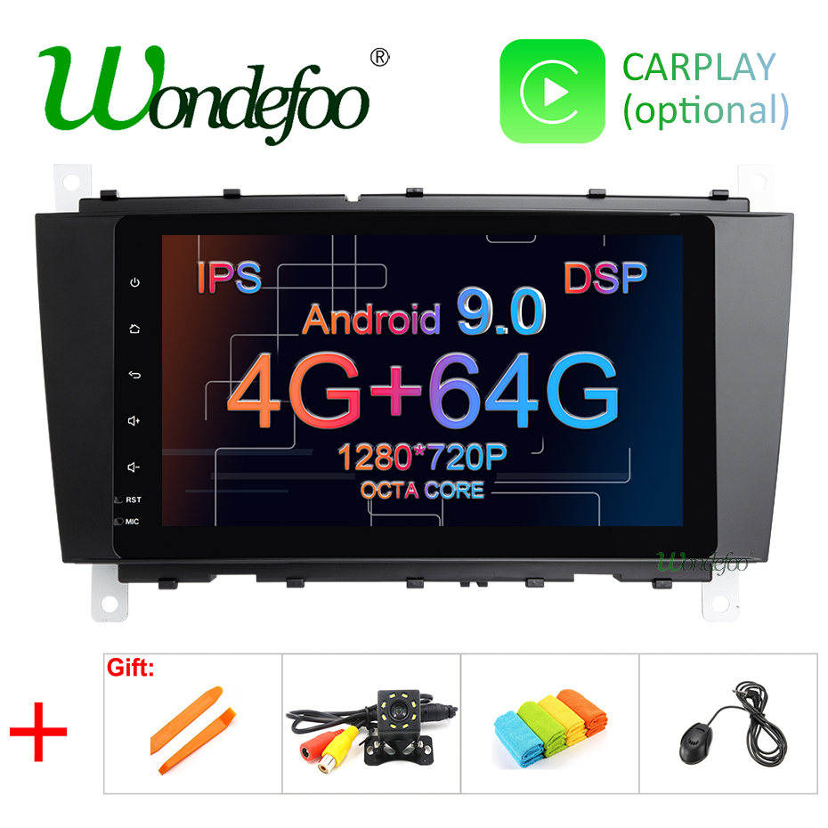 8 DSP IPS SCREEN Android 9 0 4G 64G Car GPS For Mercedes Benz C Class