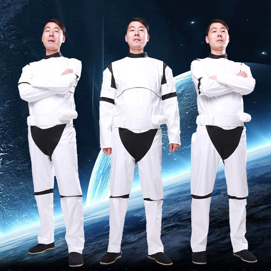 Star Wars White warrior Halloween cosplay show costume show adult party annual meeting dress up Halloween Carnival Purim