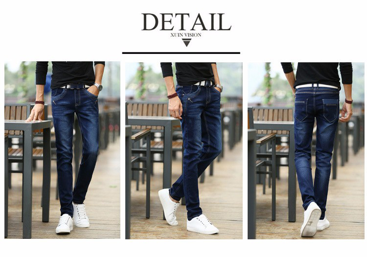 KSTUN Jeans Men's Stretch Blue Buttons Pockets Design Slim Fit Skinny Denim Pants Joggers Jeans Casual Biker Motor Male Trousers 20