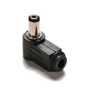 Image 3 - 10 個 90 度黒 2.1 × 5.5 ミリメートル 2.1 ミリメートルの dc 電源ライトアングルケーブル雄プラグはんだコードティップアダプタコネクタ