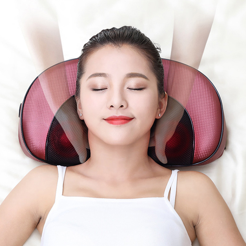 16 heads Infrared heating Cervical Massager waist body neck massage pillow electric shoulder kneading back massager electric massage pillow infrared heating kneading cervical neck shoulder auto shiatsu massager car use massage