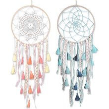 50cm Lace Tassel Handmade Dream Catcher Wind Chimes Pendant Home Living Room Wall Hanging Ornaments