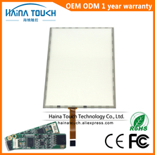 Win10 Compatible 17 pouce tactile panneau 5 fil résistif tactile écran 17 pouce écran tactile kiosque avec USB Contrôleur