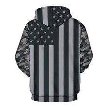 US Flag 3D Hooded Sweatshirts Unisex