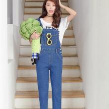 f844b3e904d 2018 spring summer European Lolita women jumpsuit denim female blue casual  jeans jumpsuits for lady wear