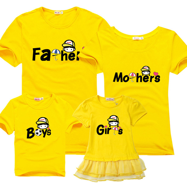 Family clothing assorted Leisure new summer cotton T-shirts