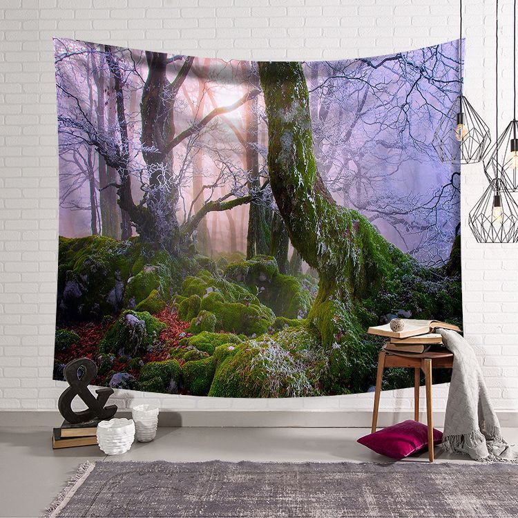 Tapestry Strict Cammitever Mysterious Purple Forest Tapestry Wall Hanging Beach Towel,home Decor Tapestries Living Room Bedroom Couch Blanket Pure And Mild Flavor