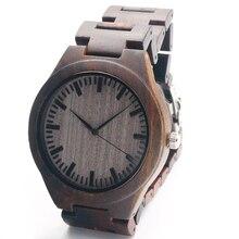New Arrival Men's Wood Wristwatch Classic Folding Clasp Japan 2035 Movement Quartz Watch with Wood Link Strap Men Watches 2016
