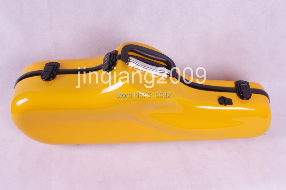 Alto saxophone Glass Fiber case Light Durable Lock Blue New # yellow color alto saxophone glass fiber case light durable lock blue new white color