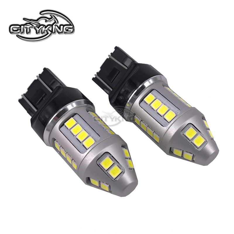 50Pcs/lot T20 7443 led W21/5W 30smd 2835 LED 30W Brake signal Turn Tail Light Bulb DC12-24V Bulb Replacement Car Light Source